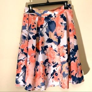 See You Monday Floral Skirt